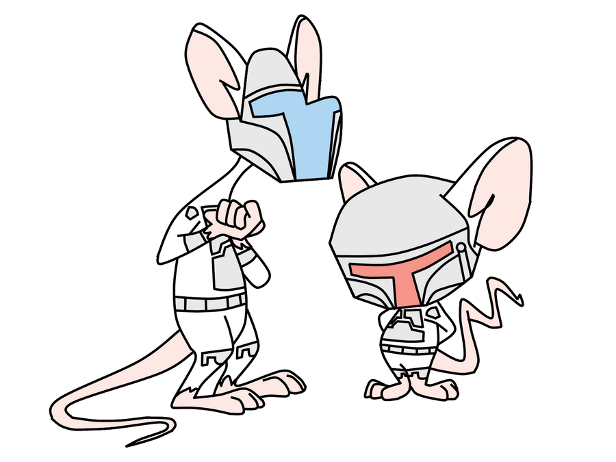 Pinky and the Brain Mandalorians by MirtaGevFett