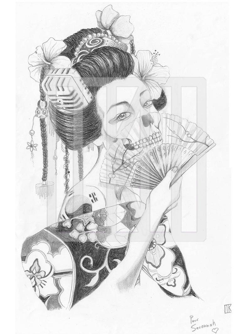 Geisha Samurai Tattoo Designs