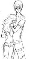 anime couple by flyingscissors