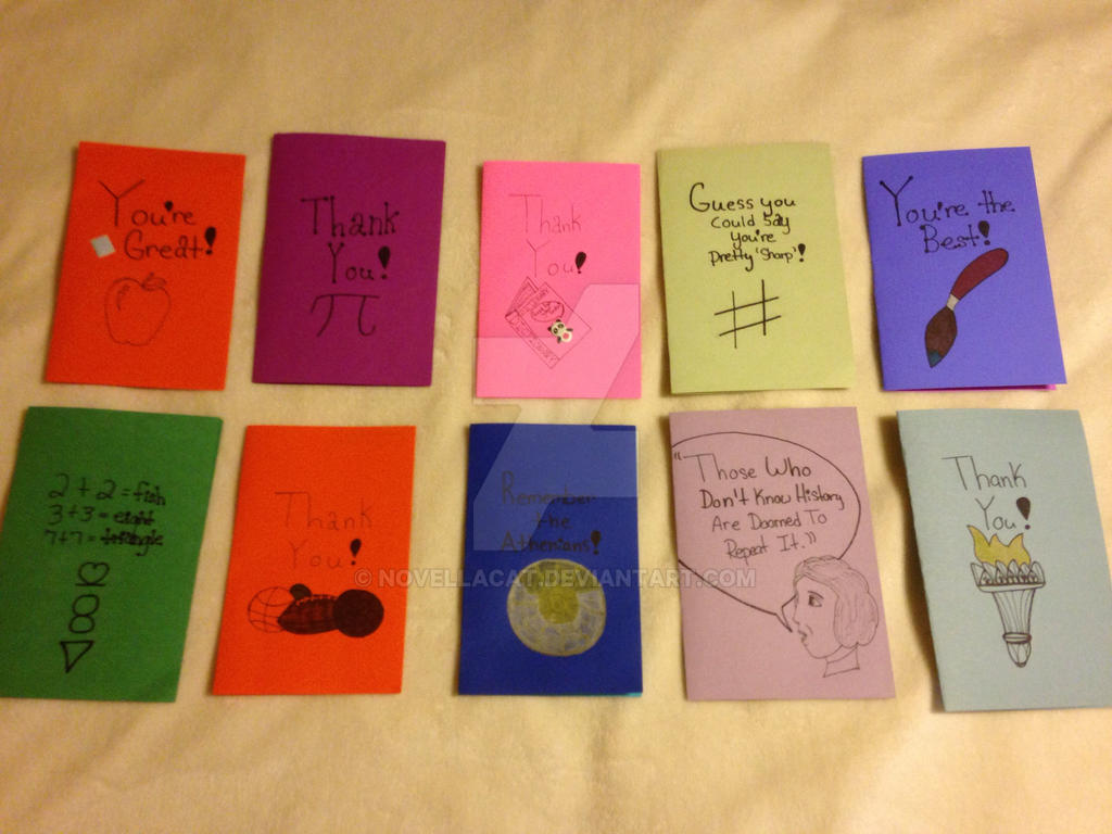 teacher appreciation day cards art club 2016 by novellacat on