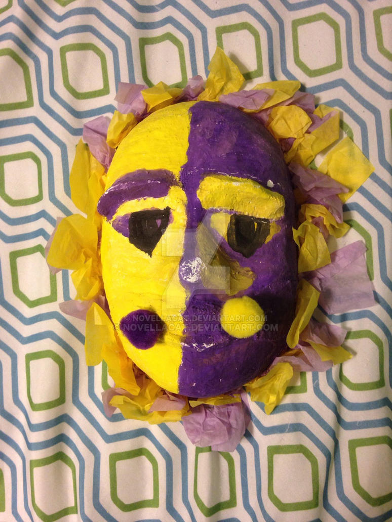 yellow purple mask 6th grade art project by novellacat on deviantart