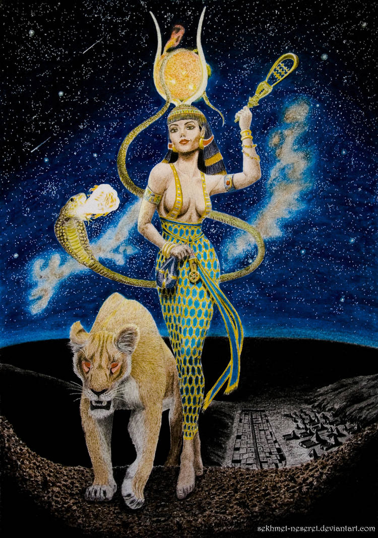 Hathor, The Golden One by sekhmet-the-flame