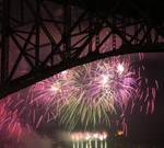 Fireworks Under Bridge by MogieG123