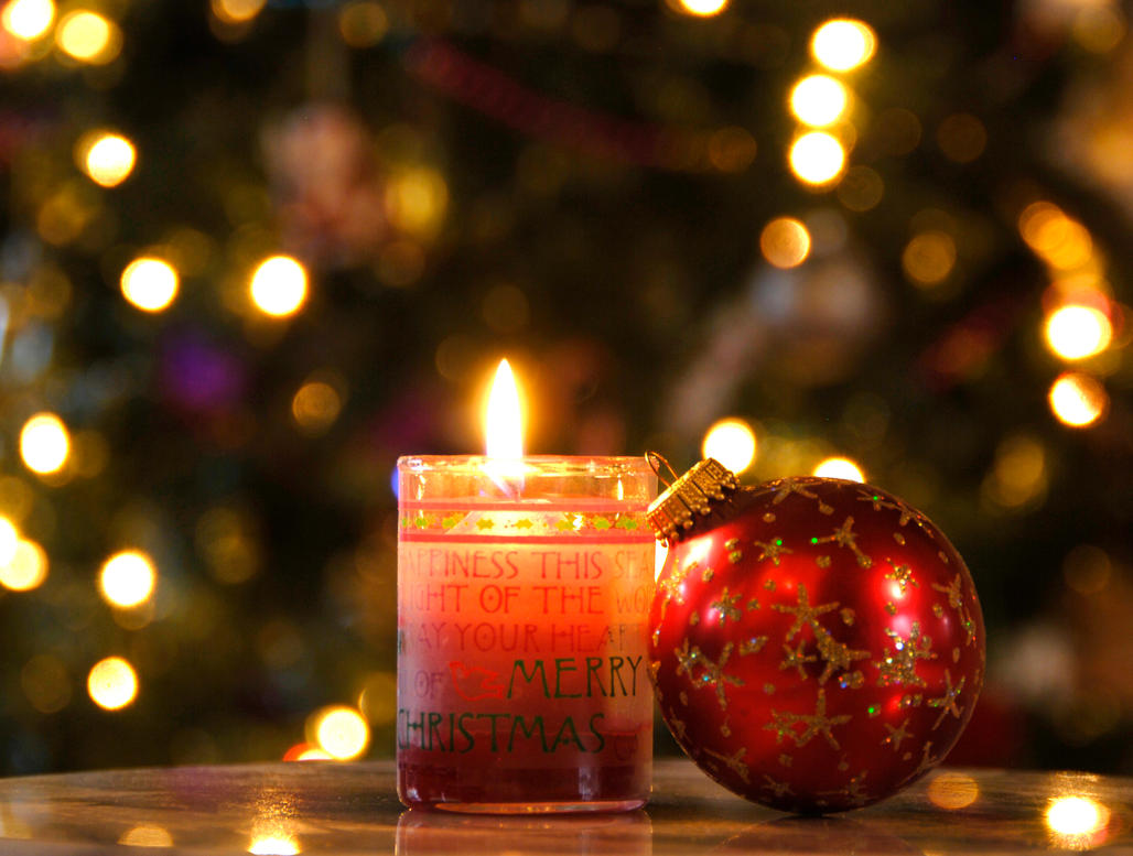 Christmas candle and ornament by mogieg on deviantart