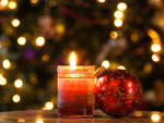 Christmas Candle and Ornament