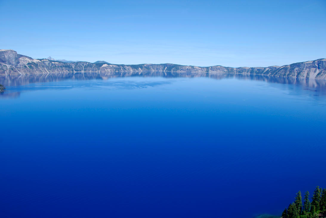Blue Crater Lake by MogieG123
