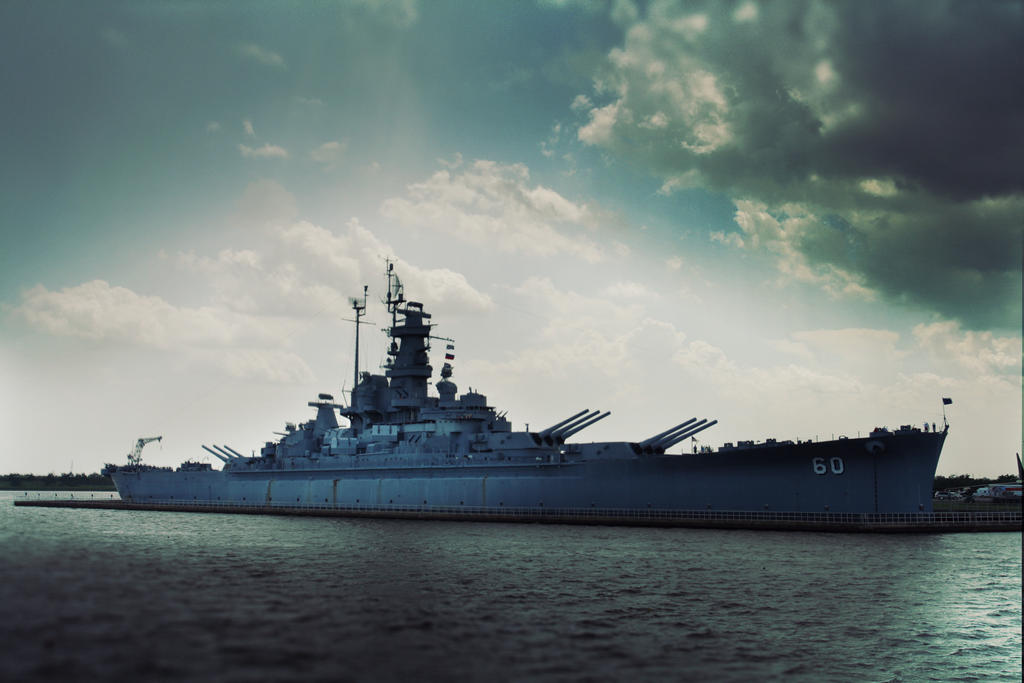 USS ALABAMA by Hankins