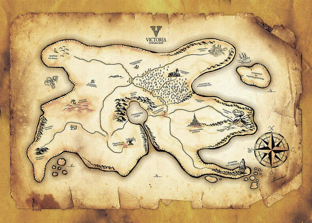Карта сокровищ своими руками Лука Онлайн 99