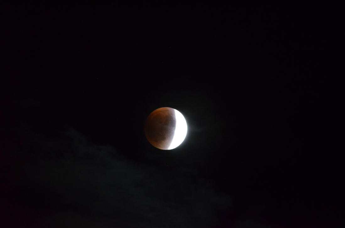 Cresant Lunar Eclipse by SnuffBomb