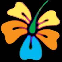 Neon Hibiscus by rockstar-kat666