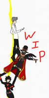 Sneak Peak (Drrr Ed x Poptropica villains WIP) by ChibiNeko-Lover