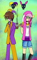 Poptropica x Suicide Squad (Bard + Hare) by ChibiNeko-Lover
