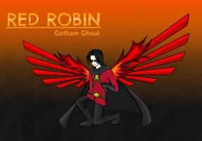 Red Robin (Gotham Ghoul AU) by ChibiNeko-Lover