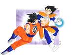 Goku vs Vegeta - Fanart Dragon Ball Z + speedpaint