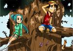 Luffy and Vivi