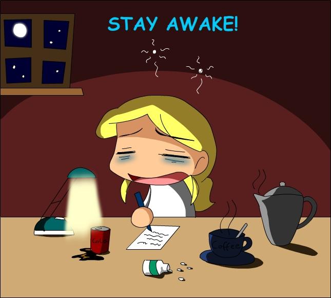 How to stay awake for homework