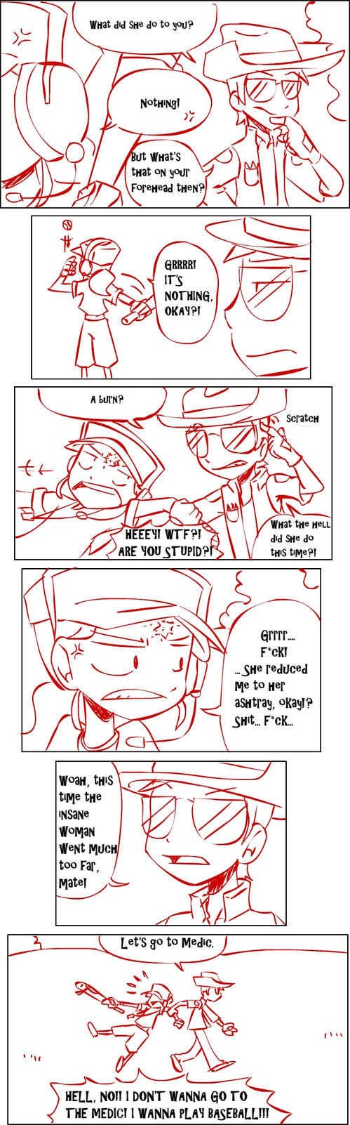 TF2 comic: TEAM RED page 8 by s0s2