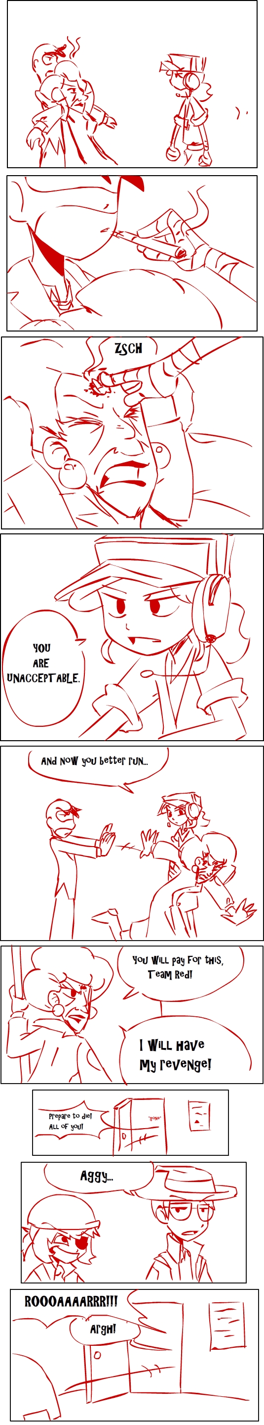 TF2 comic: TEAM RED page 45 by s0s2