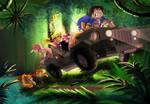 Cruising through the jungle