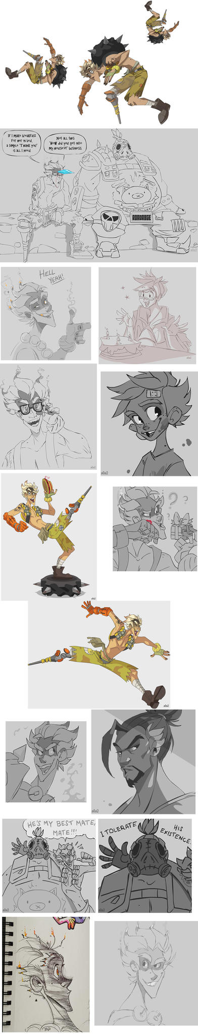 Old Tumblr Junkrat/Overwatch stuff by s0s2