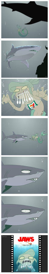 The Little Trashmaid scary shark