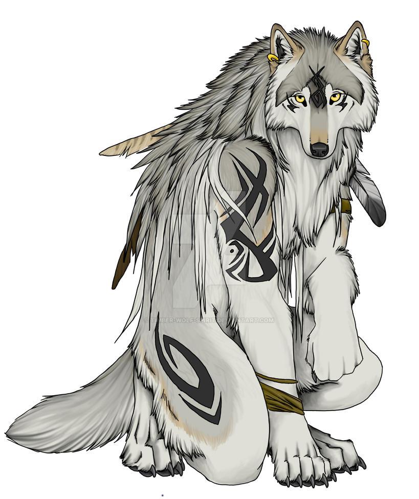 cf7ed4c5 Tribal Wolf by Timber-Wolf-Spirit on DeviantArt