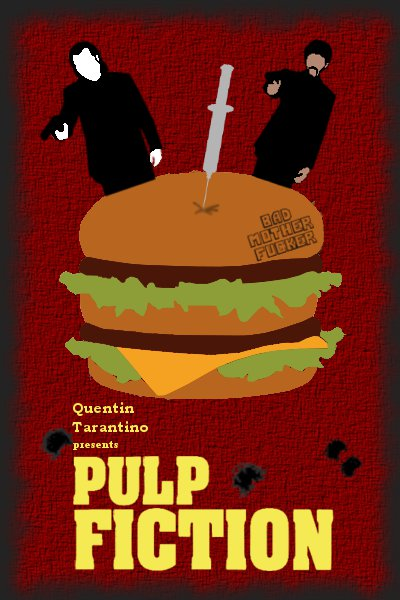 Pulp Fiction Minimalist Poster by Miamsolo on DeviantArt