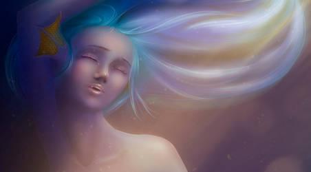 mermaid closeup by Adhius