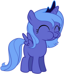 Woona munching on an apple