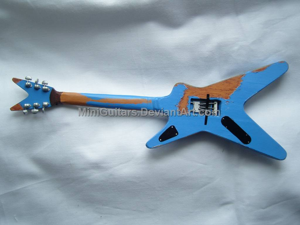 dime dean from hell guitar 2 by miniguitars on deviantart. Black Bedroom Furniture Sets. Home Design Ideas