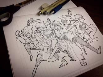 Ninjago :: sketch random clothes