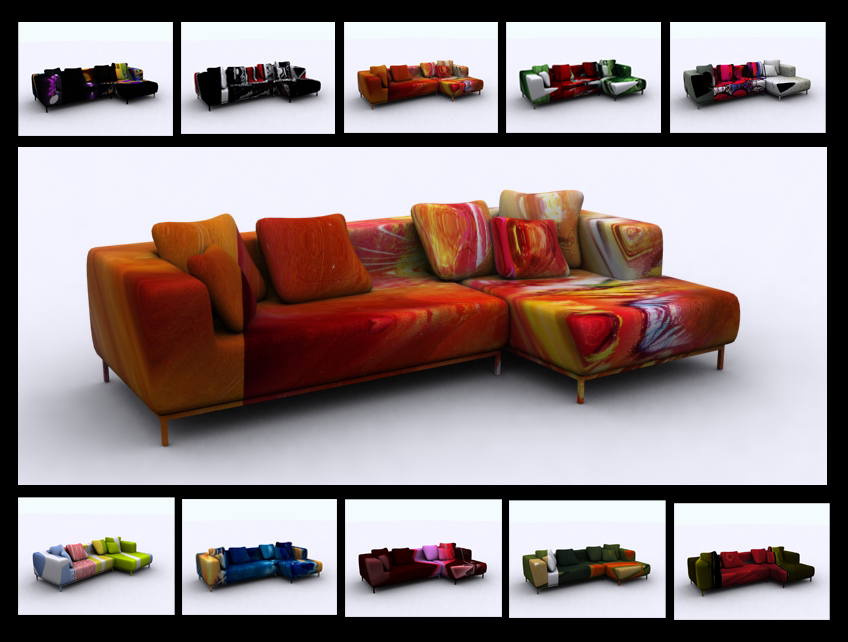 Funky sofa by 11thagency on deviantart for Funky furniture
