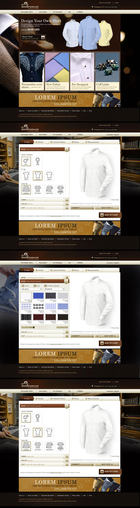 Tailorence Web by 11thagency