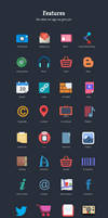 Flat icons by 11thagency