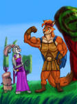 Nick and Judy as Hercules and Meg