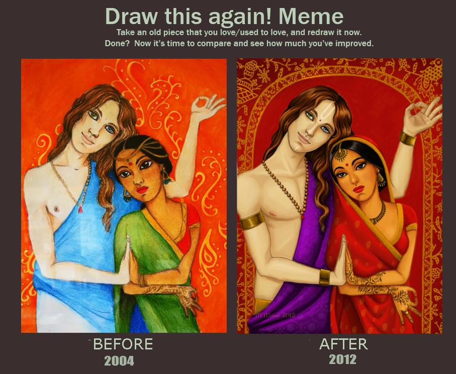 Portfólio M. Matiazi - Página 3 Draw_this_again_meme___ashakiran_and_surya_by_matiazilustrando-d4u02hj