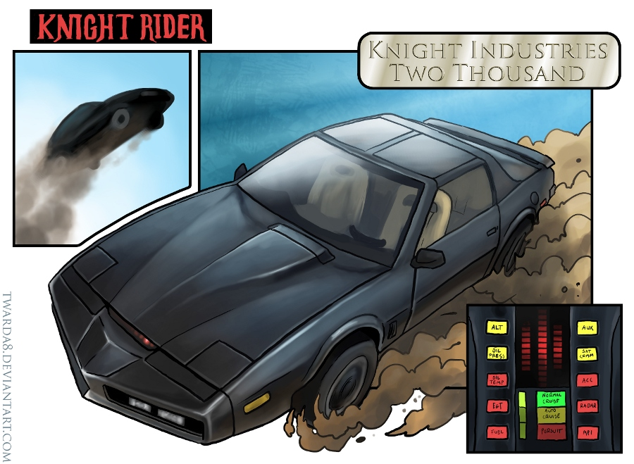Knight Rider Kitt Art by twarda8