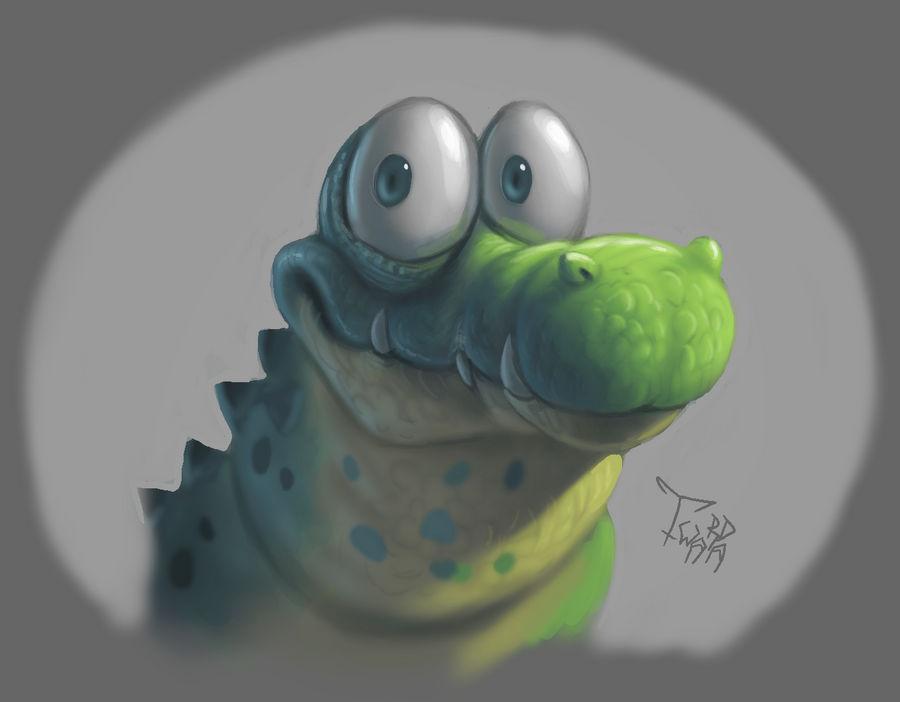 Random crocodilian...