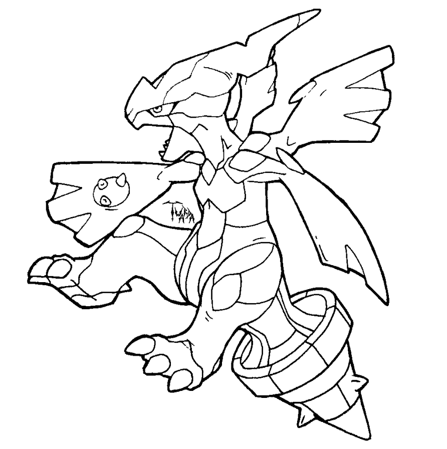 Zekrom Lineart - free to use by Twarda8