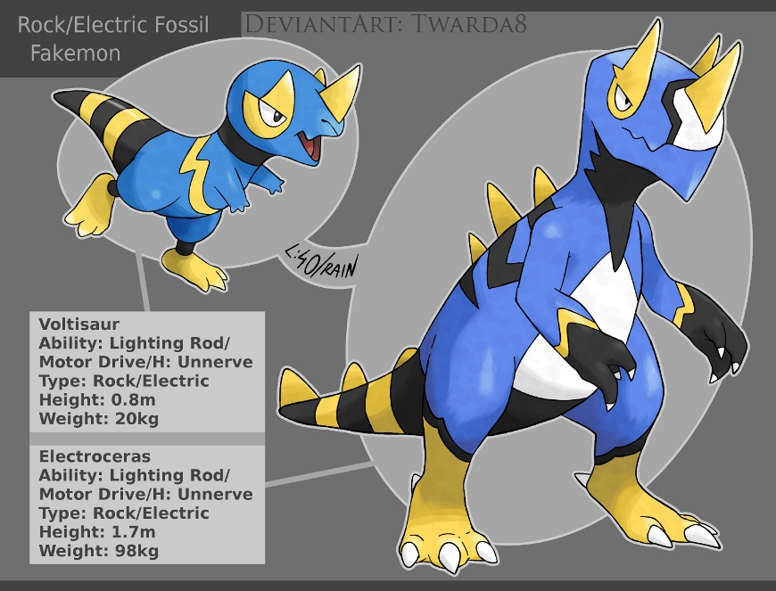 Fakemon Electric Fossils By Twarda8 On DeviantArt
