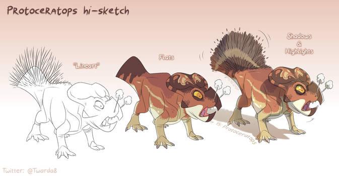 Protoceratops steps