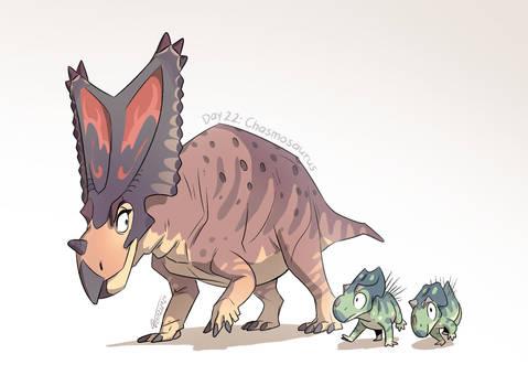 22. Chasmosaurus