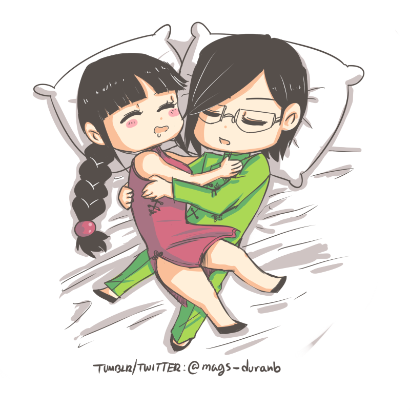 Ishida and Nemu by kala-k