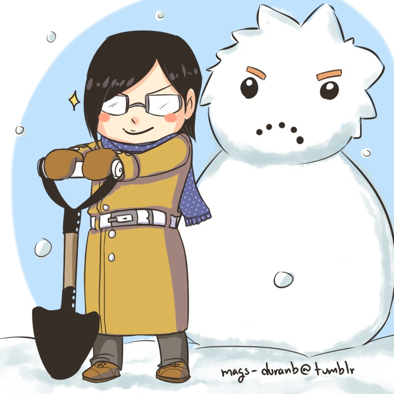 Ishida and Snowman Ichigo by kala-k