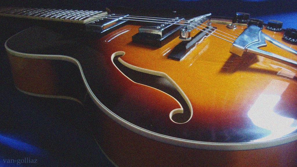 Ibanes Semi Acoustic Guitar By Van Golliaz