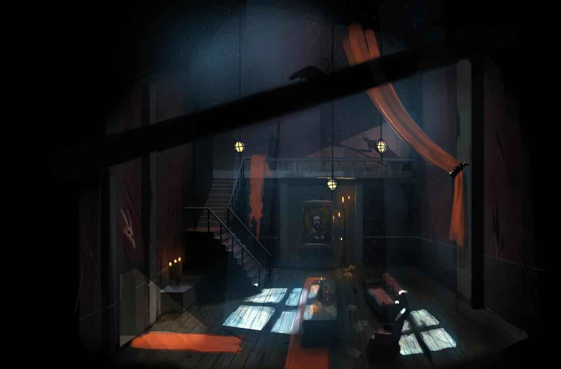Creepy room by pixelOgre
