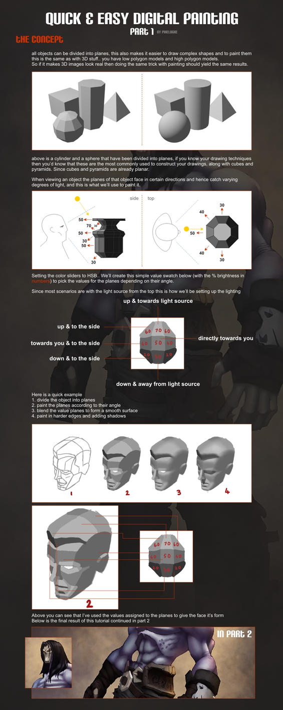 Quick and easy digital painting tutorial part 1 by pixelOgre