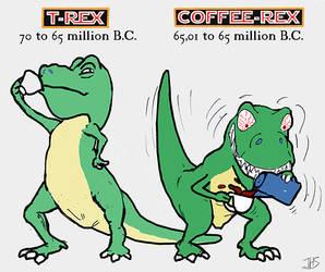 T-Rex vs Coffee-Rex