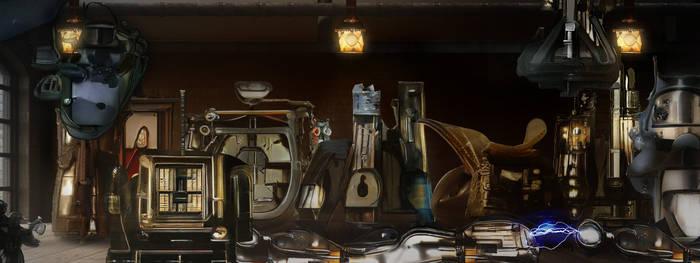 Steampunk laboratory
