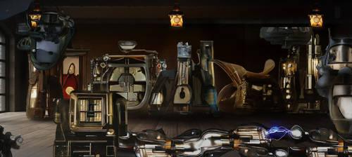 cover version of steampunk laboratory